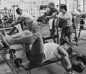 arnold chest training