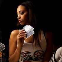 Girls Playing Poker